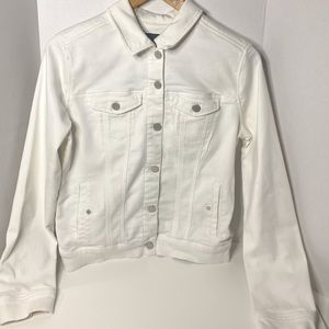 Liverpool white jean jacket for women